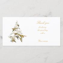 Christmas Tree on White 001 Thank You Card
