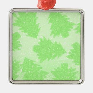 Christmas Tree Orchard Metal Ornament