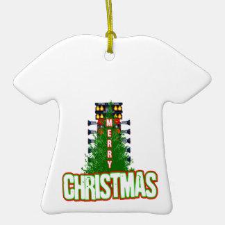 Christmas Tree Double-Sided T-Shirt Ceramic Christmas Ornament