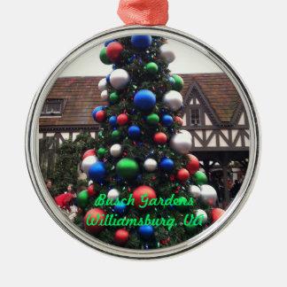 Christmas Tree Round Metal Christmas Ornament