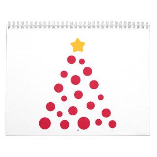 Christmas tree ornament balls calendars