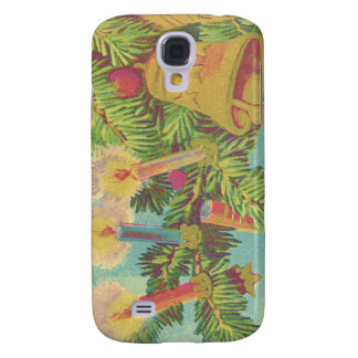 Christmas Tree Ornament Bell Candle Samsung Galaxy S4 Cover