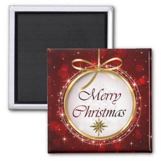 Christmas Tree Ornament Bokeh Lights Magnet