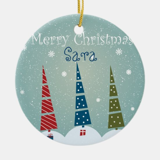 Christmas Tree Ornament - Customize for Recipient