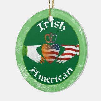 Christmas Tree Ornament Irish American Claddagh