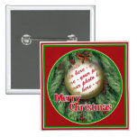 Christmas Tree Ornament Photo Frame Button