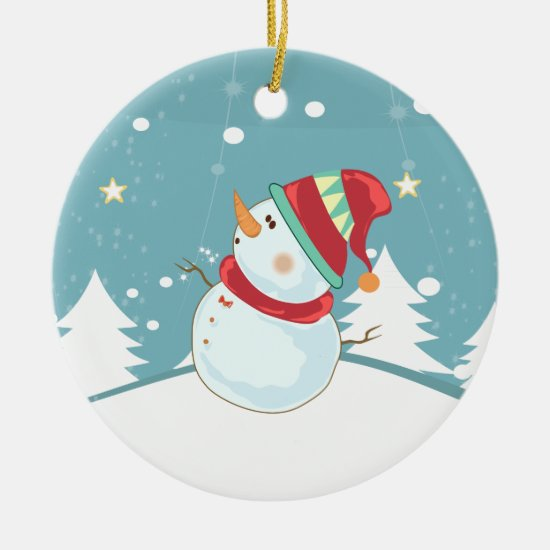 Christmas Tree Ornament - Snowman Design