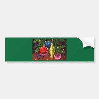 Christmas Tree Ornaments 2 Bumper Sticker