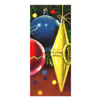 Christmas Tree Ornaments 2 Customized Rack Card