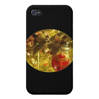 Christmas Tree Ornaments Case For iPhone 4