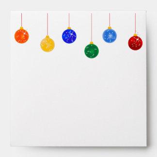 Christmas Tree Ornaments Christmas Envelopes