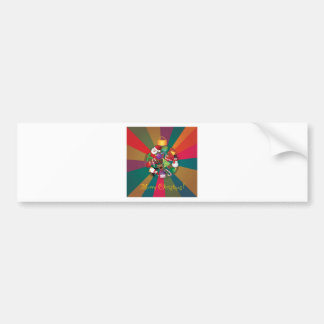 Christmas Tree Ornaments Collage Colorful Bumper Sticker