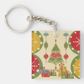 Christmas Tree Ornaments Gifts Presents Holiday Keychain