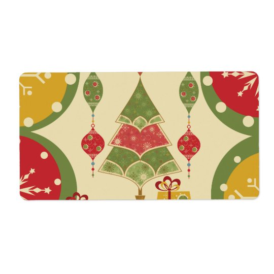 Christmas Tree Ornaments Gifts Presents Holiday Label