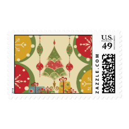 Christmas Tree Ornaments Gifts Presents Holiday Stamps