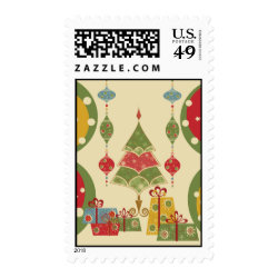 Christmas Tree Ornaments Gifts Presents Holiday Stamp