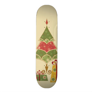 Christmas Tree Ornaments Gifts Presents Holiday Skate Board Deck