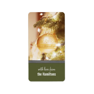 Christmas Tree Ornaments Holiday Tags Label