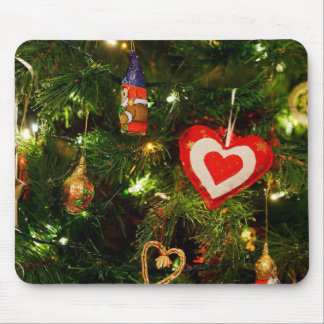Christmas tree ornaments mouse pad