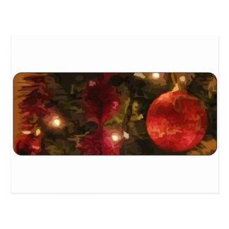 Christmas Tree Ornaments Postcard