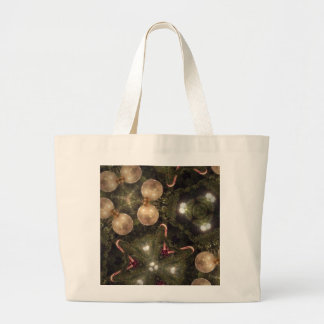 Christmas tree ornaments with candy canes canvas bags