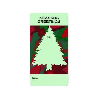 christmas tree outline tag