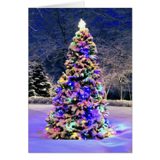 Christmas tree outside card