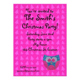 Christmas tree owl invitation