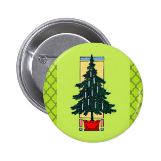 Christmas Tree Painting Buttons