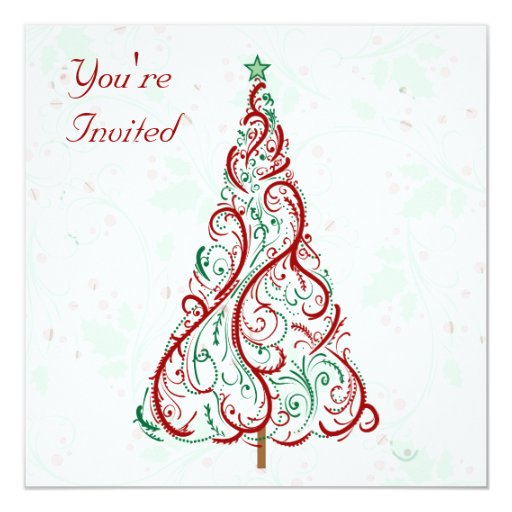 Christmas Tree Party Invitation