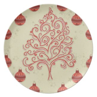 Christmas Tree Party Plates