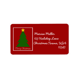 Christmas Tree Patch Custom Address Labels