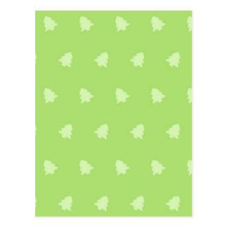Christmas Tree Pattern 1 Post Card