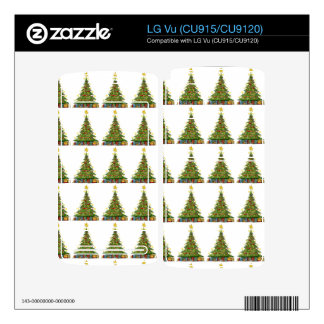 Christmas Tree Pattern 2 Decals For The LG Vu