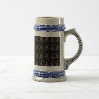 Christmas tree - pattern beer stein