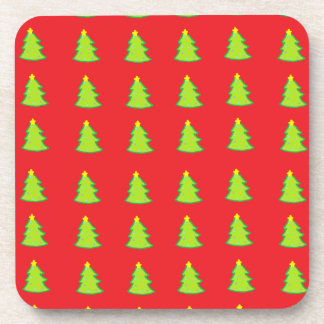 Christmas Tree Pattern Beverage Coaster