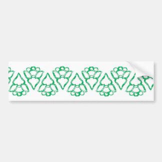 Christmas Tree Pattern Bumper Stickers