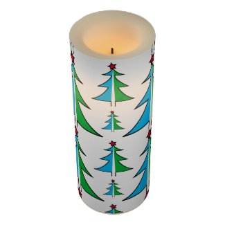 Christmas Tree Pattern LED Candle
