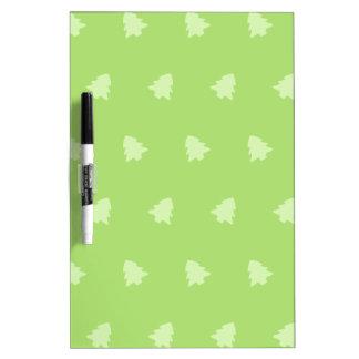 Christmas Tree Pattern Green White Dry-Erase Board