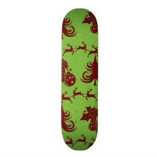 Christmas Tree Pattern Holly Ornaments Reindeer Skateboard