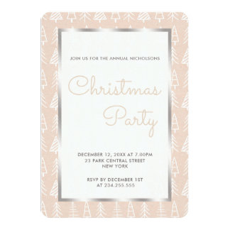 Christmas Tree Pattern Kraft Paper Holiday Party Card