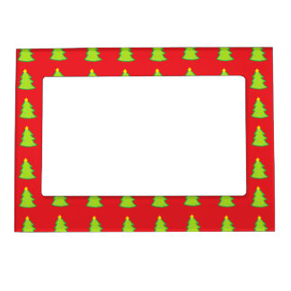 Christmas Tree Pattern Magnetic Picture Frame