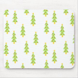 christmas tree pattern mid century modern vintage mouse pad