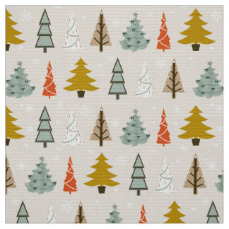 Modern Christmas Fabric | Zazzle