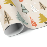 Christmas Tree Pattern Modern ID175 Wrapping Paper