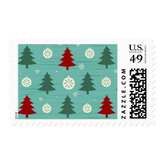 Christmas tree pattern postage