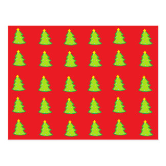 Christmas Tree Pattern Postcard