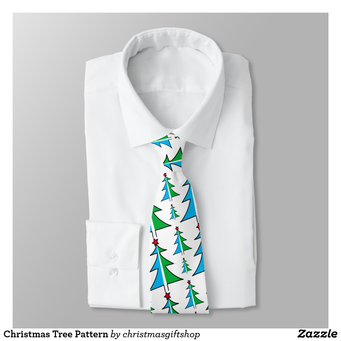 Christmas Tree Pattern Tie