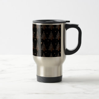 Christmas tree - pattern travel mug