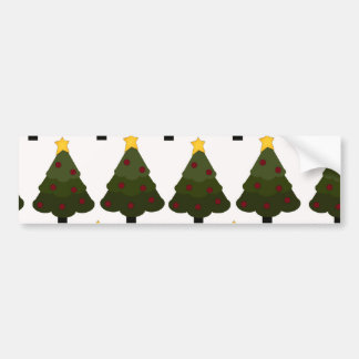 Christmas Tree Pattern Winter Holiday Gifts Bumper Stickers